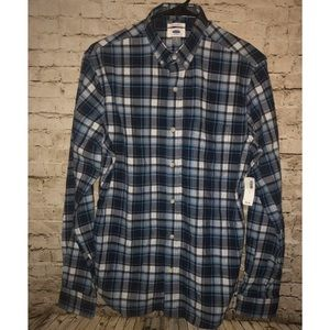 Old Navy Plaid Shirt Button Down Slim Fit Size S